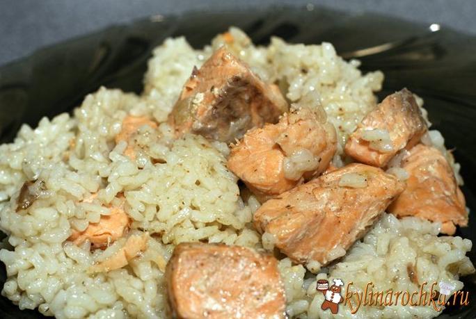 Рыба горбуша с рисом рецепт