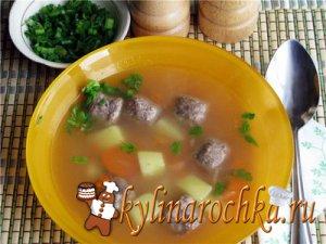 Суп картофельный с кабачками