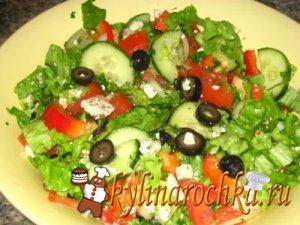 Вкусный рецепт простого салата