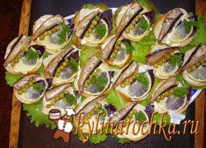 Кулинарные рецепты закусок и бутербродов, заливные блюда, паштеты